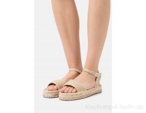 South Beach EMBROIDERED BASE - Platform sandals - natural/beige