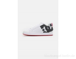 DC Shoes COURT GRAFFIK - Skate shoes - white/grey/red/white