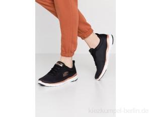 Skechers Wide Fit FLEX APPEAL 3.0 - Trainers - black/rose gold/black