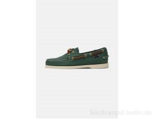 Sebago DOCKSIDES PORTLAND TUMBLED - Boat shoes - green forest/brown/green