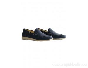 Travelin SEATOWN - Boat shoes - cognac/blue