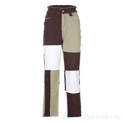 Ansenesna Jeans Damen High Waist Elegant Jeanshose Frauen Vintage Denim Hose