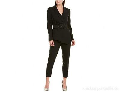 Tahari ASL Damen Belted Asymmetric Pebble Crepe Pant Suit Businessanzughosen-Set