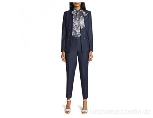 Tahari ASL Damen Faux Double-Breasted Jacket and Pant Businessanzughosen-Set