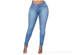 POTOU 2021 High Waist Damen Jeans Sommer Einfarbige Hohe Taille Und Geradem Bein Eng Anliegende Elastische Schmal Geschnittene Freizeithose Leggings Gerade