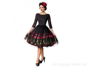 Belsira Retro Swingkleid 50148 mit aufgestickten Rosen - Premiumkleider