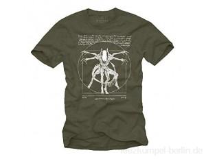 Coole Sachen für Männer - Gaming T-Shirt mit Aufdruck - Geschenke für Herren Alien Da Vinci Shirt