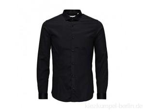 JACK & JONES PREMIUM Herren Super Slim Fit Business Hemd Jjprparma Shirt L/s Noos, Schwarz (Black), Medium