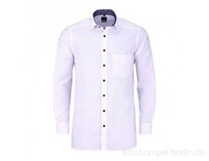 OLYMP Luxor modern fit Hemd extra Langer Arm Kombimanschette weiß