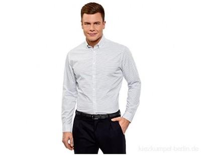oodji Ultra Herren Baumwoll-Hemd mit Feinem Muster