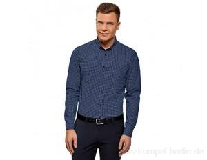 oodji Ultra Herren Bedrucktes Hemd Slim-Fit