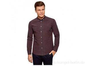 oodji Ultra Herren Kariertes Hemd aus Baumwolle