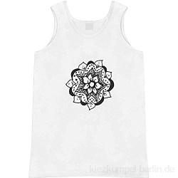Azeeda Groß 'Blumen-Mandala' Erwachsene Weste / Tank Top (AV00053327)