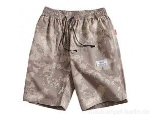 URSING Herren Sport Joggen und Training Shorts Fitness Kurze Hose Jogging Hose Bermuda Reißverschlusstasch Sporthose