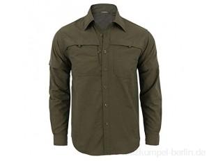 N\P Herren Outdoor Abnehmbares Langarmshirt Atmungsaktiv Wandern Training Taktisches Shirt