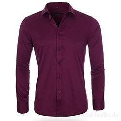 WQWRSA Herren Langarm Shirt Slim 13 Farbe Atmungsaktiv Schweißabsorbierende einfarbige Shirt Polyester Material Geeignet für Party im Büro und zu Hause im Freien(2-719,43 Yards (180 / 104A))