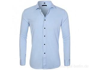 WQWRSA Herren Langarm Shirt Slim 13 Farbe Atmungsaktiv Schweißabsorbierende einfarbige Shirt Polyester Material Geeignet für Party im Büro und zu Hause im Freien(2-708,38 Yards (165 / 84A))