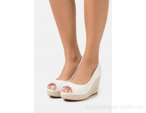 Wallis Wide Fit WHIRL - Peeptoe heels - natural/off-white