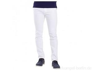 BlauerHafen Herren Skinny Jeanshose Slim Fit Stretch Designer Hose Super Flex Denim Pants (28W / 32L, Weiß)