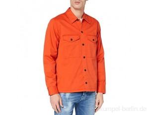 BOSS Herren Loflash Stückgefärbtes Overshirt aus elastischem Baumwoll-Twill mit Logo-Stickerei