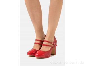 Simply Be WIDE FIT DOLLY - Platform heels - red