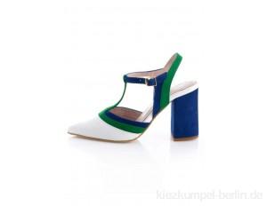 Alba Moda High heels - royalblau,weiß,grün/multi-coloured